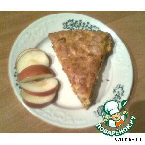 Рецепт: Яблочно-морковный пирог с сыром