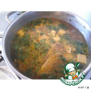 Рецепт: Суп с белыми грибами