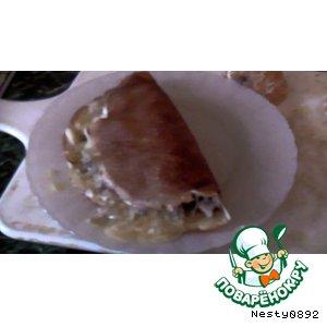 Рецепт Блинчики №1. Вариант с грибами и курицей