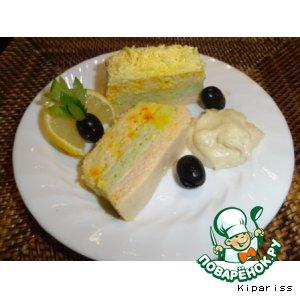Рецепт: Террин с лососем и морепродуктами