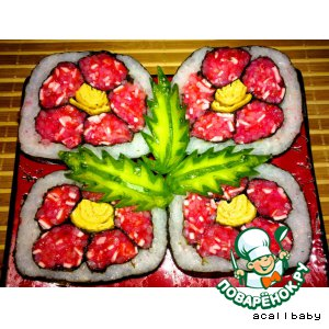 Рецепт: Суши-цветок