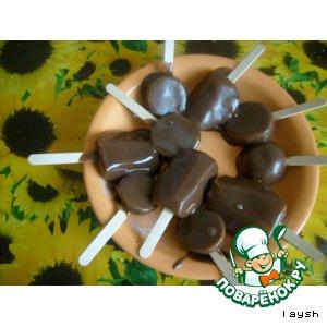 Рецепт: Фрукты в шоколадной глазури