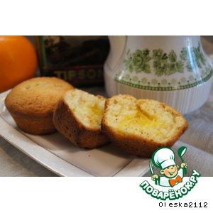 Рецепт: Кексы творожно-апельсиновые