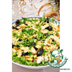 """Рецепт: Салат с рукколой, авокадо и фетой """"Арлекин"""""""