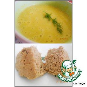 Рецепт: Тыквенный суп-пюре со шпинатом и суфле из куриной печени