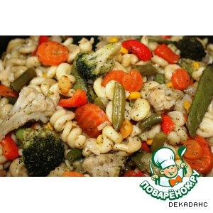 Рецепт: Макароны с овощами