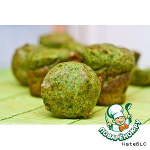 Рецепт: Зеленые маффины с сыром