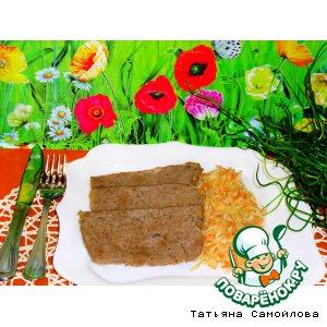 Рецепт: Мясной хлеб с капустным гарниром
