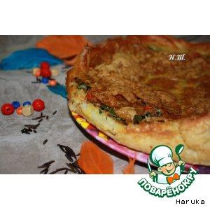 "Рецепт: Пирог ""Каньон"" с диким рисом"