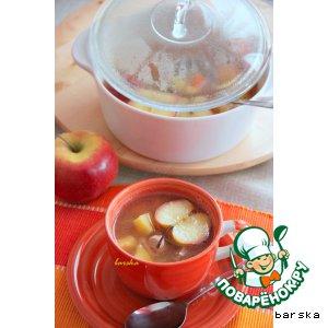 Рецепт: Суп из свинины с яблоком