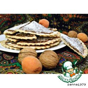 Рецепт Фруктово-вафельное печенье