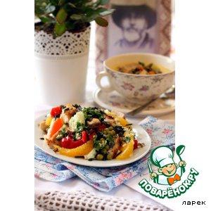 Рецепт: Обед для ковбоя. Салат из дикого риса с курицей