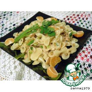 Салат-гарнир с мясом и мандаринами