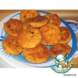 Рецепт: Сырнички на манке с сыром