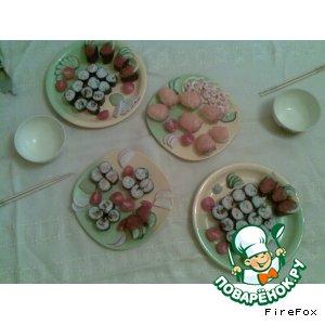 Рецепт: Хосомаки и Гунканмкаки