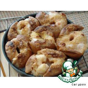 Рецепт: Яблоки печеные с зеленым чаем