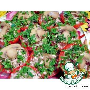 Рецепт: Помидоры, фаршированные мясом и грибами