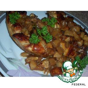 Рецепт: Куринные грудки с яблоками