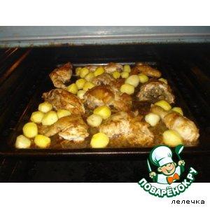 Рецепт: Картофельные носики с курицей