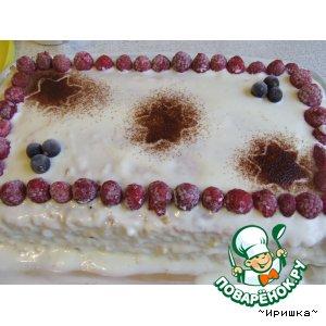 Рецепт: Облепиховый тортик с заварным кремом