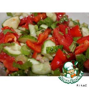 Рецепт: Салат Похудейка с сельдереем