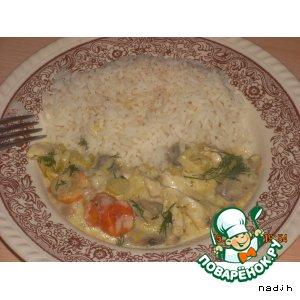 Рецепт: Индейка в сливочном соусе