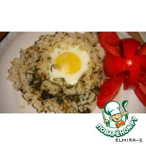 Яичница с рисом – кулинарный рецепт