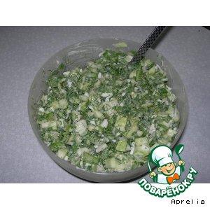 "Рецепт: Салат ""Зеленый"""