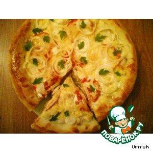 Рецепт: Пицца рыбная