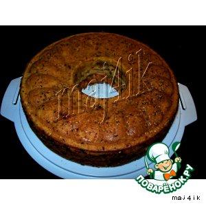 Рецепт: Сырный пирог с печенью и овощами