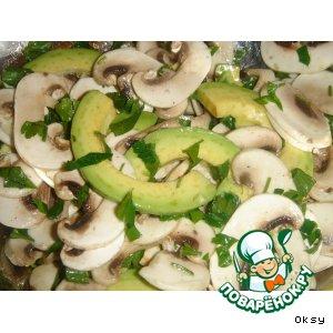 Рецепт: Салат из шампиньонов с авокадо