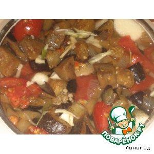 Рецепт: Овощи с грибами в горшочке