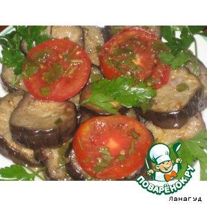 Рецепт: Быстро-маринованные баклажаны