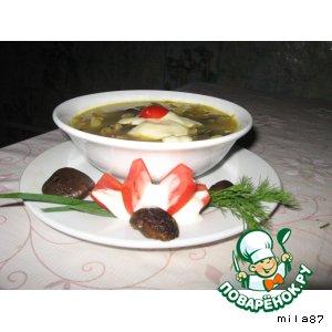 Рецепт: Густой суп из баклажанов