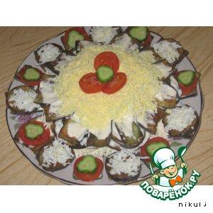 Рецепт: Закусочный торт Солнышко