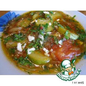 Рецепт: Кабачки с томатами по-итальянски