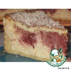 Рецепт Торт творожный с вишневой начинкой
