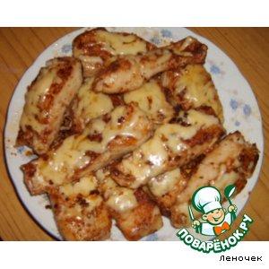 Рецепт: Жареная щука под сыром