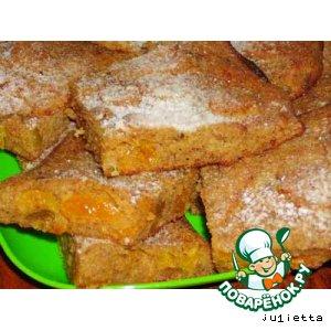 Рецепт: Пирог с сухарями и сухофруктами
