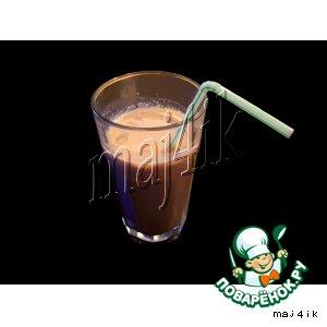 Рецепт: Молочный коктейль Карамелька