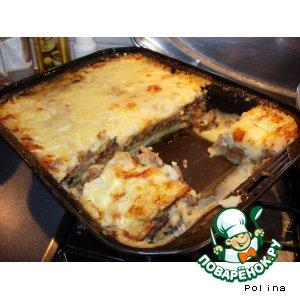 Рецепт: Запеканка картофельная с мясом и грибами