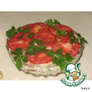 "Рецепт: Горячий салат ""Рига"""