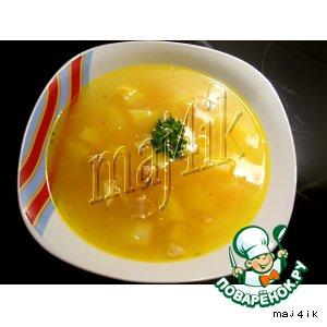 Рецепт: Самый простой и легкий куриный суп