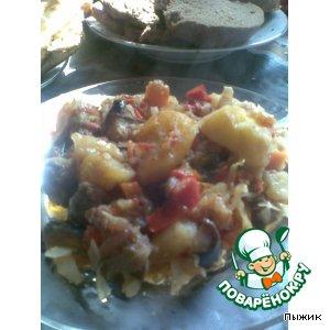 Рецепт: Горячее Овощной базар