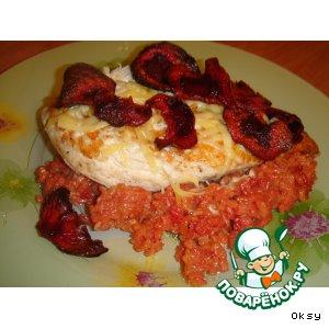 Рецепт: Куриные эскалопы с красным рисом