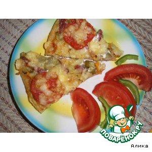 Рецепт: Фирменная пицца «Сочный кусочек»