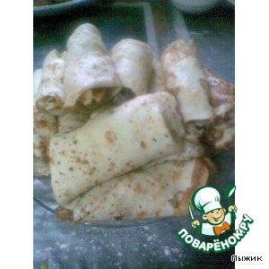 Рецепт: Блинчики с мясом и рисом