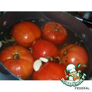 Рецепт: Быстро маринованные помидоры