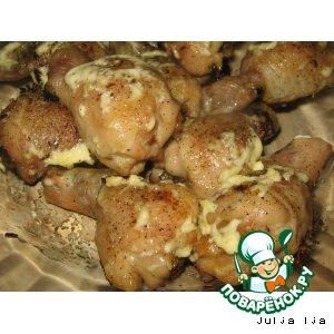 Рецепт: Куриные ножки, фаршированные грибами и сыром
