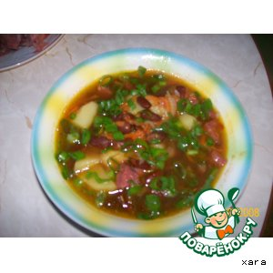Рецепт: Суп фасолевый с копченостями